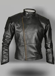 thick goat black leather jacket 614 loading zoom