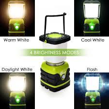 ultra bright 1000 lumen camping lantern with brightness adjustment odoland battery powered led lantern of 4 light