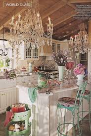 kitchen table chandelier shabby chic kitchen i like the use of chandeliers in