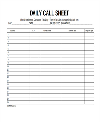 Daily Call Sheet Template 44 Sheet Examples Psd Ai Word Pdf Free Premium