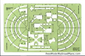 free model railroad plans layout design tools ctt track template