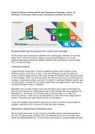What Kind Of Windows Do I Have Ppt Eastpoint Software Windows Mobile App Development Cambridge