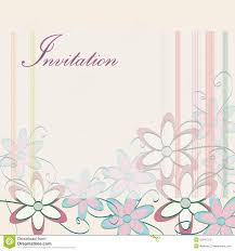 wedding invitation design templates wedding invitation template party card design with flowers stock