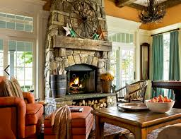 view in gallery rustic stone fireplace decor