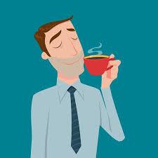 drinking coffee clipart. Wonderful Clipart Businessman Drinking Coffee Tea Break Time In Bright Office Illustration On Drinking Coffee Clipart N
