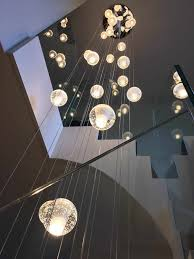 Long Drop Stairwell Pendant Lights Air Bubble