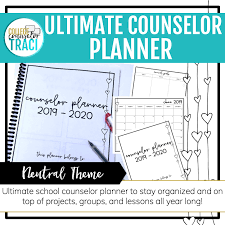 College Planners 2020 School Counselor Planner 2019 2020 Neutral Heart Theme