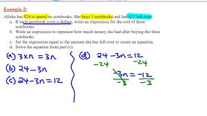 yr9 translating word problems into equations
