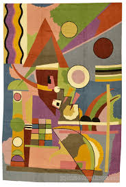 kandinsky rugs abstract wall hangings hand embroidered accent