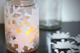 diy gifting series snowflake mason jar lights with tea candles