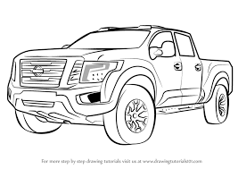 Learn How to Draw Nissan Titan Warrior Truck (Trucks) Step by Step ...