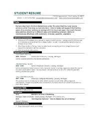 High School Resume Template No Work Experience High School Student Resume Templates No Work Experience Resumes Best
