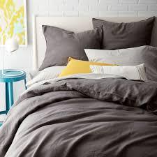 ... Belgian Flax Linen Quilt Cover + Pillowcases - Slate ...