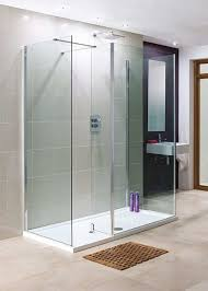lakes 1200 x 800mm 3 panel walk in shower enclosure with return stone tray p