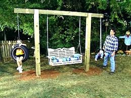 diy outdoor swing backyard swing sets home depot backyard swing set kits creative diy swing set