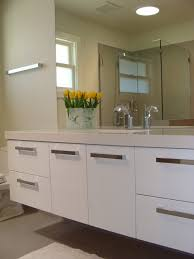 Wonderful Custom Modern Bathroom Cabinets White Lacquer Vanity Modernbathroom To Ideas