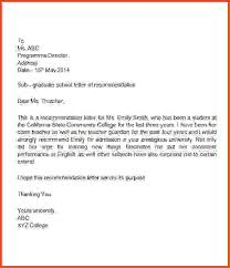 Letter Of Recommendation For An Elementary Student Going To