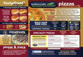 Northern Lights Pizza Hours Northern Lights Menu L M Gas Grocery