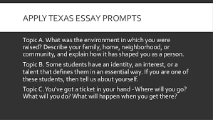 college essay workshop apply texas essay prompts