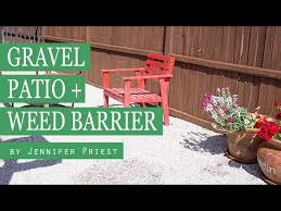 how to make a gravel patio best