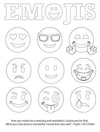 Emojis Bible Verse Coloring Page Free Childrens Pastor Only