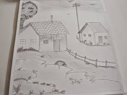 natural scenery drawing peion beautiful of nature simple sketch home step by drawings with color pictures