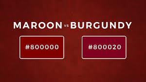 maroon vs burgundy difference between