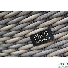 deco garden furniture. deco alfresco london luxury triweave corner daybed sofa dining rattan garden furniture set 7