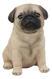 Ebros Lifelike Sitting Pug Dog Statue 6 ...