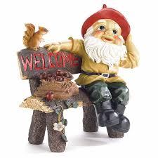 welcoming garden gnome statue