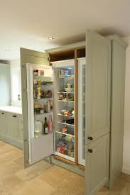 Painted  Built In Refrigerator Panels Kitchen Cabinets Fridge - Kitchen refrigerator