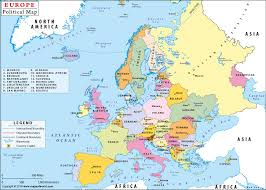 europe map countries. Wonderful Europe Political Map Of Europe With Countries