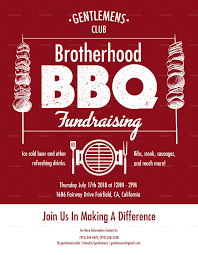 Fundraising Flyer Barbecue Fundraising Flyer Design Template In PSD Word Publisher 11