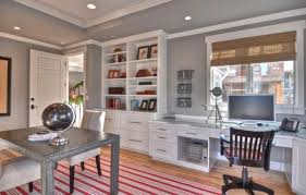 gray home office. View In Gallery Organized Home Office White And Gray F