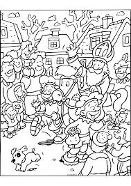 Sinterklaas In Het Winkelcentrum Sinterklaas Kleurplaten