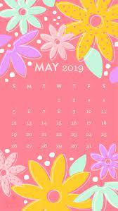 May 2019 Flower Calendar Wallpaper ...