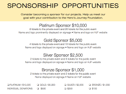 sponsorship forms for fundraising fundraiser sponsorships hero s journey foundation hero s