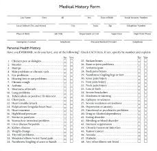 Past Medical History Template Forms Sample Templates Form