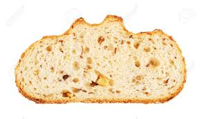 White Bread Slice With Nuts And Roasted Sunflower Seeds Isolated