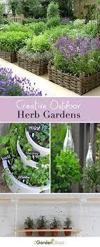 outdoor herb garden. Creative Outdoor Herb Gardens Garden