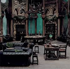 ///Slytherin common room /// 18 Amazing Gothic Living Room Designs : 18  Amazing Gothic Living Room Designs With Dark Wooden Furniture Sofa Table  Chair And ...