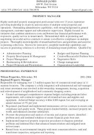 Apartment Manager Resume Sample Property Manager Resume Sample Bio