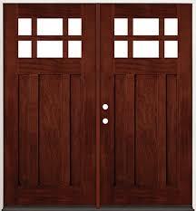 craftsman double front door. 6-Lite Craftsman Mahogany Prehung Double Wood Door Unit #43 Front A
