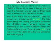 favourite movies essay my favourite movies essay