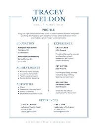 High School Resume Template Cool Customize 28 High School Resume Templates Online Canva