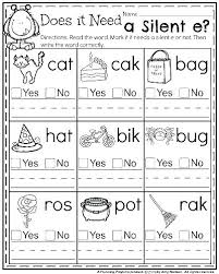Phonics printable worksheets and activities (word families). Phonics Worksheets Grade 1