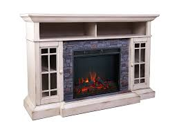 bennett infrared electric fireplace tv stand in farmhouse ivory asmm 017 2866