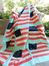 Desert Bloom 4th of July Quilt | A Quilting Life - a quilt blog & Camille of Thimbleblossoms posted a new