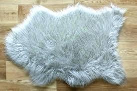 fluffy grey rug grey sheepskin rug faux fur rugs silver grey fluffy plain bedroom faux fluffy grey rug
