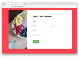 Registration Form Design Template 25 Easy To Implement Bootstrap Form Template Examples 2020